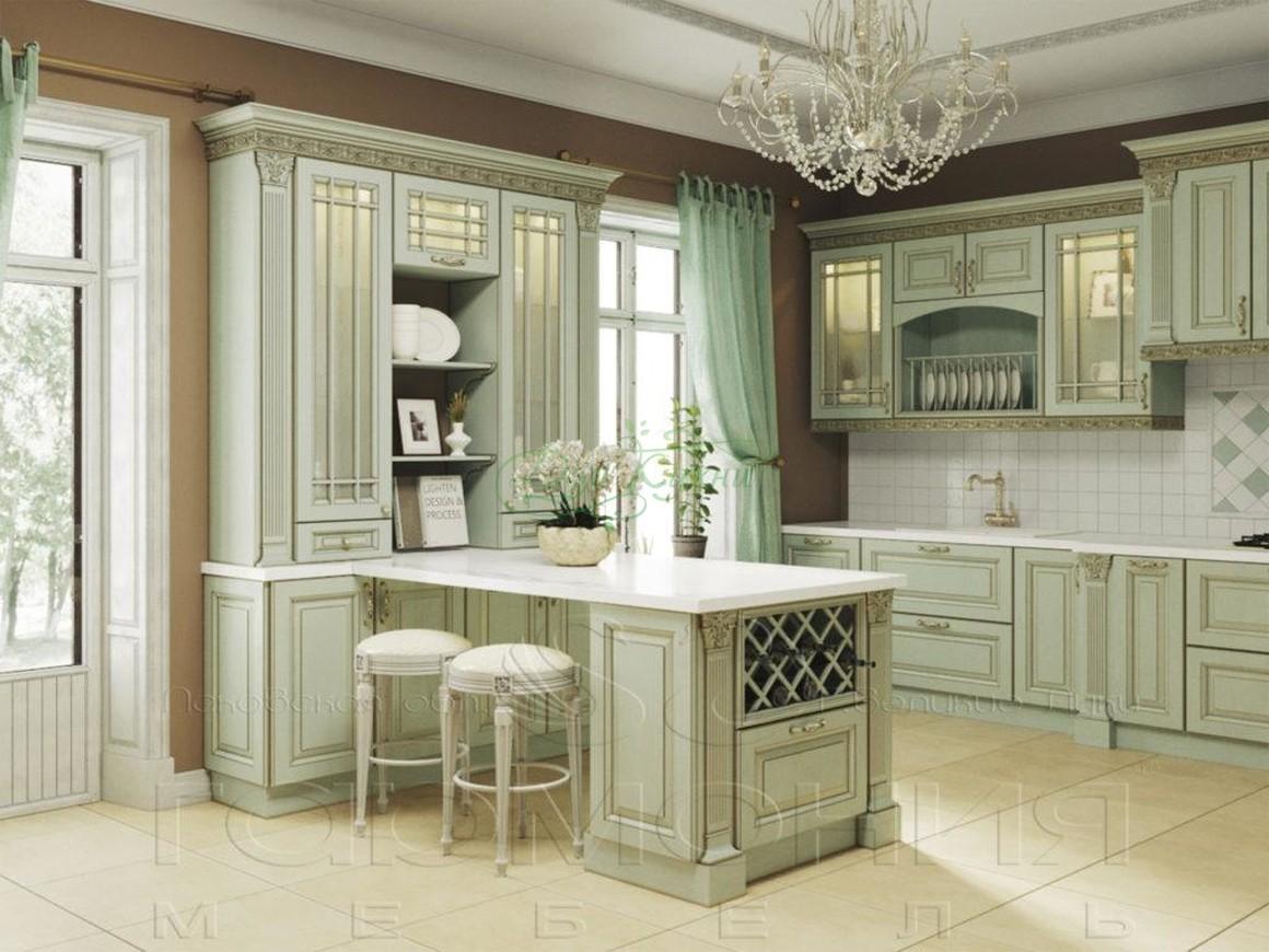Кухни с витринами в классическом стиле фото